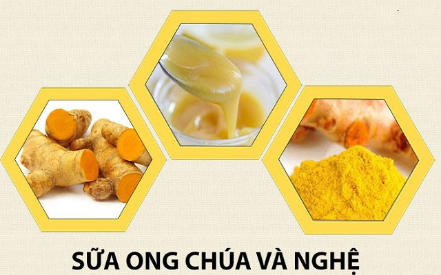 sữa ong chúa và tinh bột nghệ