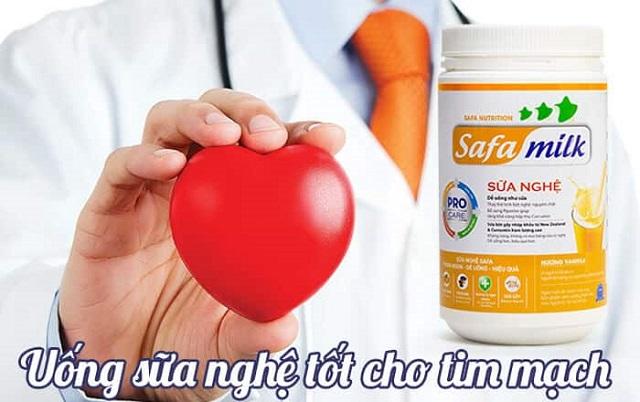 Sữa nghệ giúp tăng cường sức khỏe tim mạch