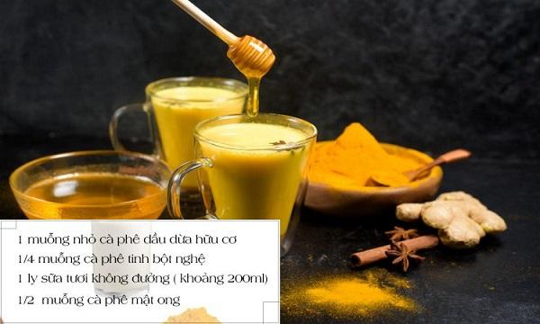 Cách pha sữa nghệ mật ong hiệu quả nhất