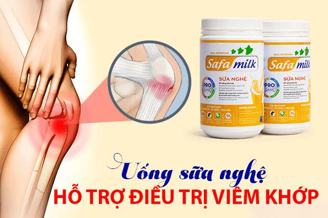 Sữa nghệ chống viêm khớp