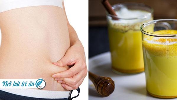 Uống tinh bột nghệ đúng cách giúp giảm cân