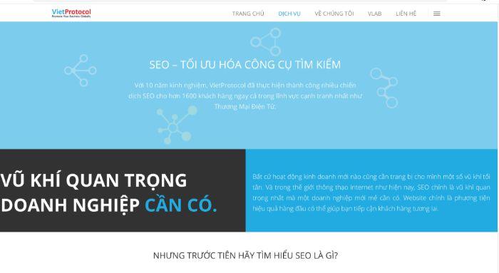 Công ty SEO VietProtocol là một đơn vị SEO uy tín và chuyên nghiệp tại Việt Nam trong lĩnh vực tối ưu hóa công cụ tìm kiếm