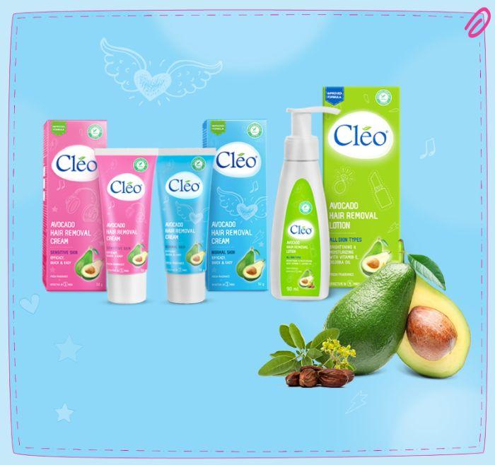 Gel wex lông Cleo Avocado Hair Removal Cream Sensitive Skin sử dụng rất an toàn cho da nhạy cảm