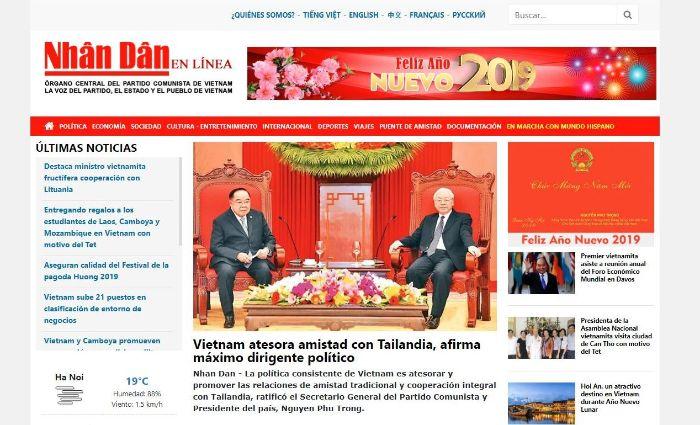 Báo Nhân Dân là trang báo điện tử lớn của Việt Nam