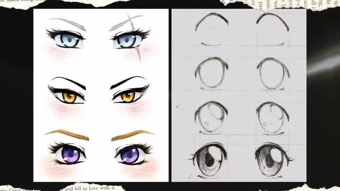Vẽ mắt anime nữ không hề khó như mắt người thật