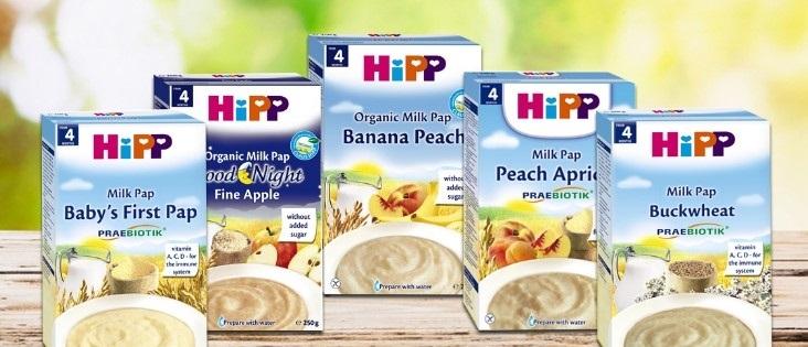 Các loại bột ăn dặm hipp