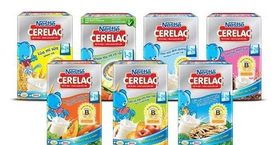 Các loại bột ăn dặm của Nestle