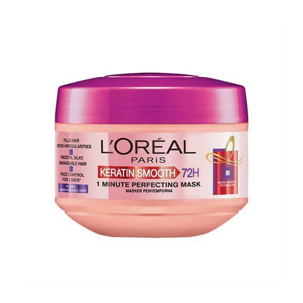 Kem Ủ Dưỡng Tóc Suôn Mượt Keratin Smooth 72h Perfecting Mask L'Oréal
