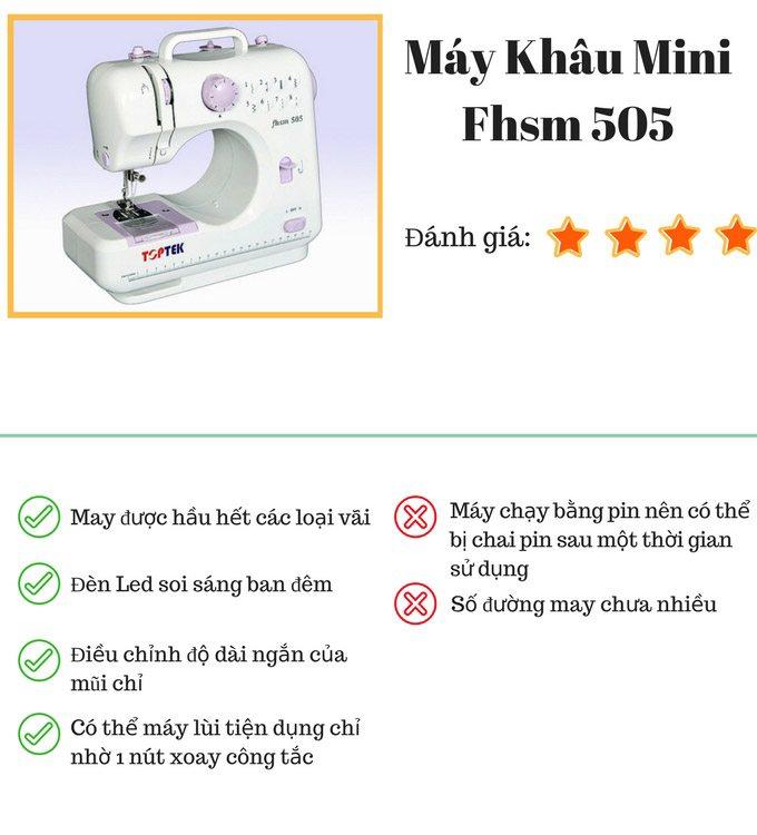 Máy khâu Mini Toptek FHSM505