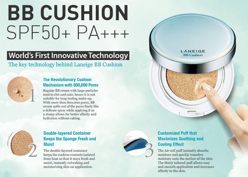 Phấn Nước Laneige BB Cushion Pore Control SPF50+ PA+++