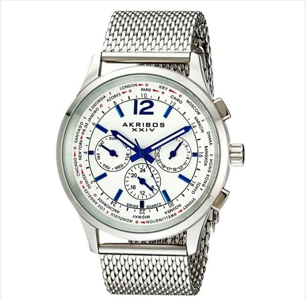 """Đồng hồ nam Akribos XXIV """"Explorer"""" AK716SS"""