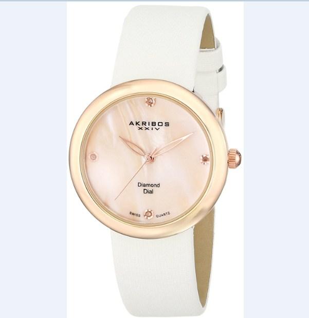 Đồng hồ nữ Akribos XXIV AK687RGW thanh lịch.