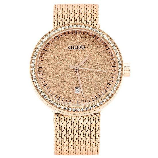Đồng hồ nữ dây thép lưới GUOU CH337