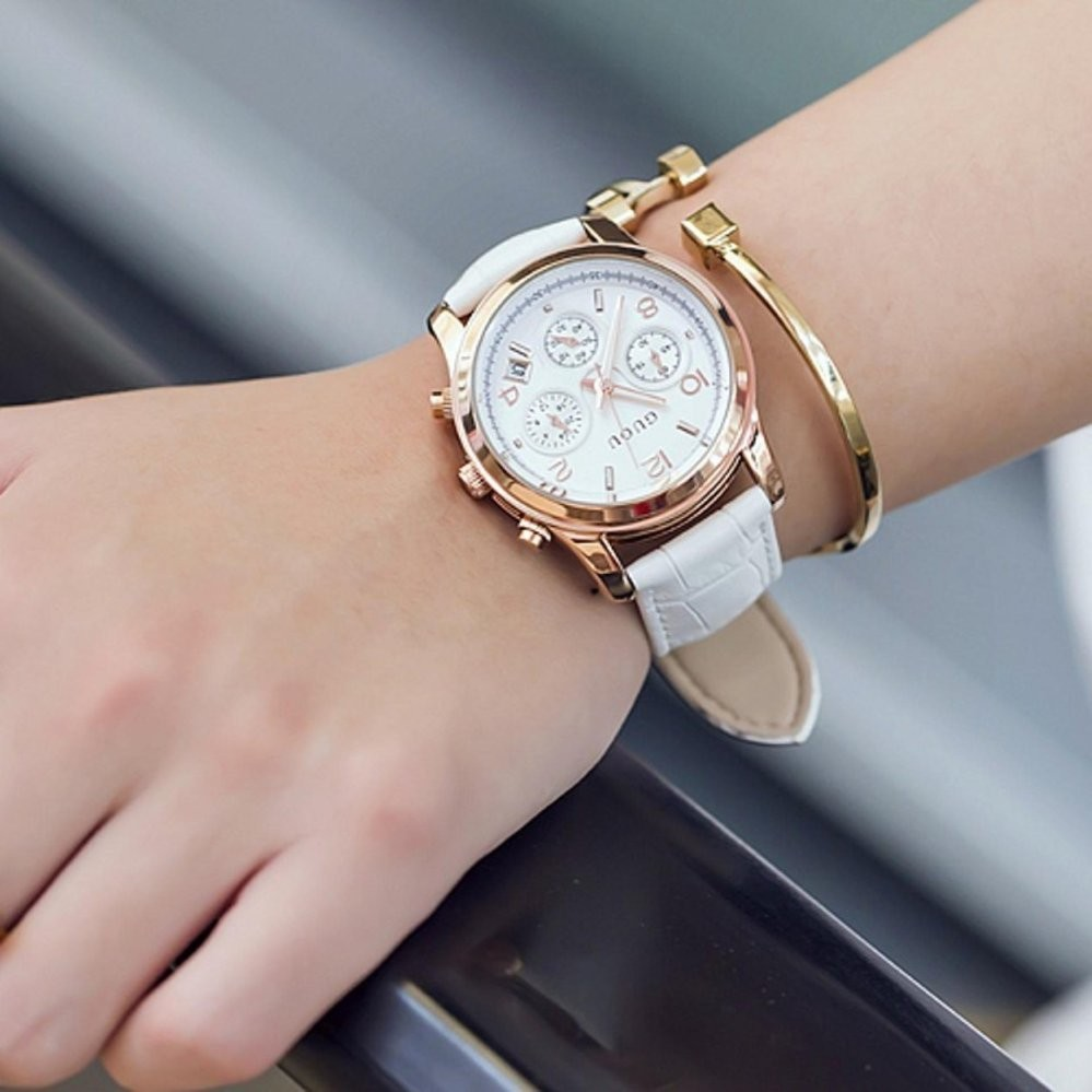 Đồng hồ nữ dây da GUOU CH339