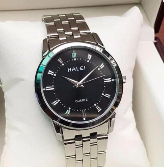 Đồng hồ nam Halei HL168 V6 mặt màu đen chống nước
