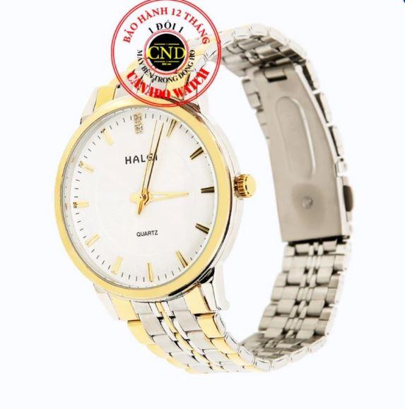 Đồng hồ nam dây thép Halei HL3615 mặt kính Sapphire chống xước chống nước