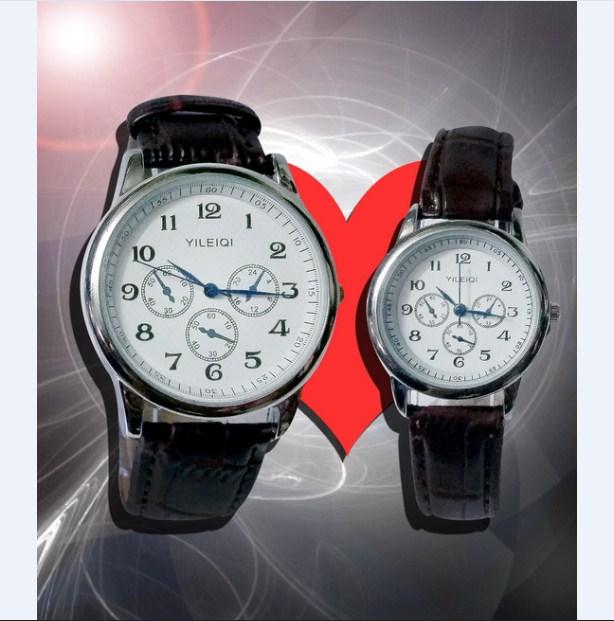 Một mẫu đồng hồ cặp đơn giản mà tinh tế của thương hiệu YILEIQI.