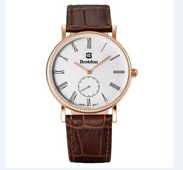 Đồng hồ nam dây da Bestdon BD98104G màu nâu trẻ trung.