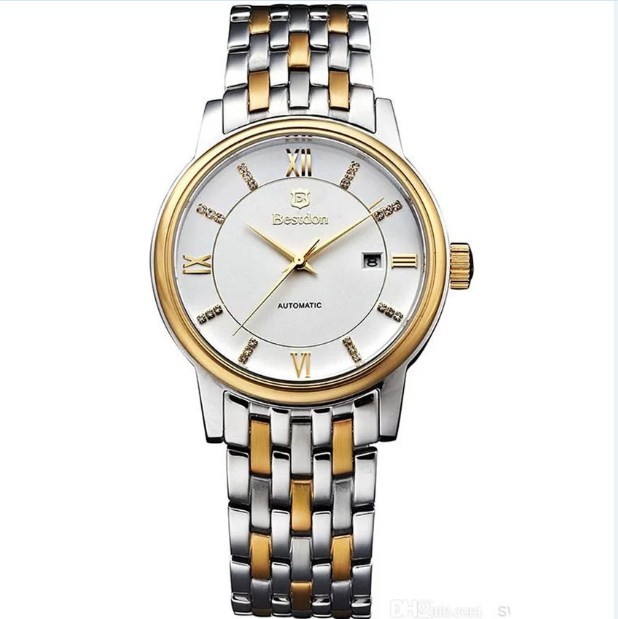Đồng hồ cơ Automatic nam Bestdon BD7102G dây thép không gỉ