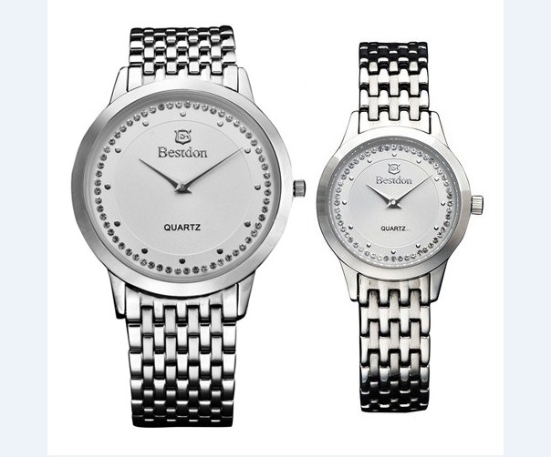 Đồng hồ cặp Bestdon BD9933 dây thép không gỉ thời trang.