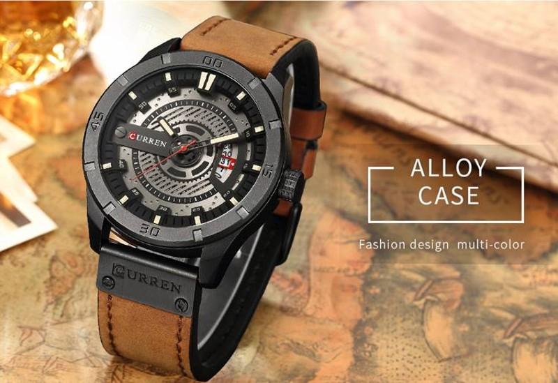 Đồng hồ nam dây hợp kim thép Curren 8233
