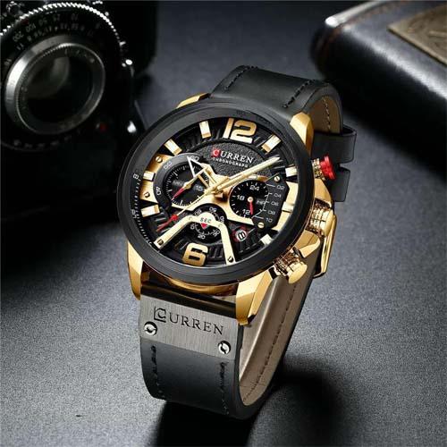 Đồng hồ nam thể thao dây da Curren 8152