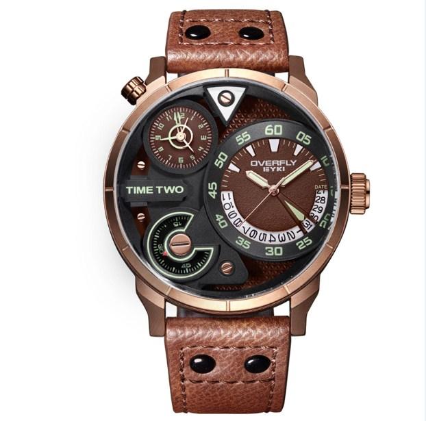 Đồng hồ dây da nâu Eyki mang nét đẹp vừa cổ điển vừa hiện đại