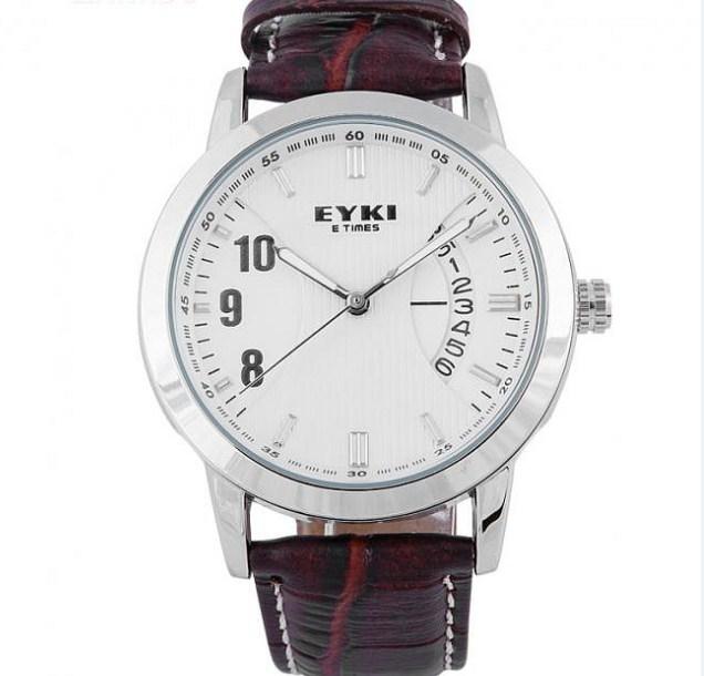 Đồng hồ nam dây da EYKI 8408 màu nâu