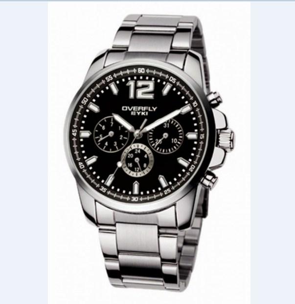 Đồng hồ nam dây thép không gỉ EYKI EOV8568 màu đen