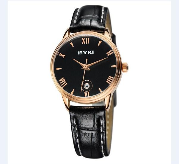 Đồng hồ nữ dây da EYKI EET8731L-RG0202 màu đen