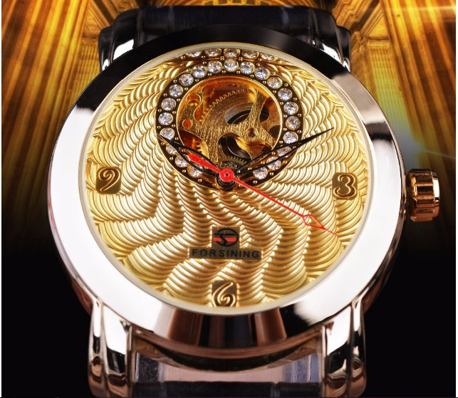 Chiếc đồng hồ cơ Forsining dành cho nam có thiết kế sang trọng, đặc biệt