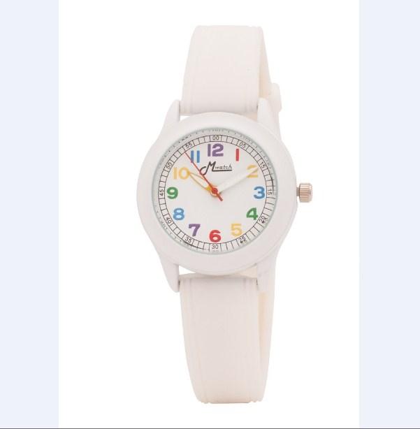 Đồng hồ nữ dây cao su Mwatch MW94 màu trắng độc đáo