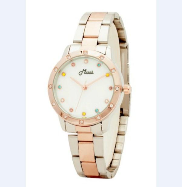 Đồng hồ nữ Mwatch MW667 dây kim loại màu vàng đồng