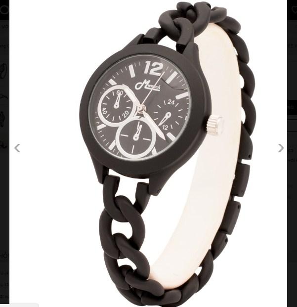 Đồng hồ nữ Mwatch MW885 dây kim loại màu đen
