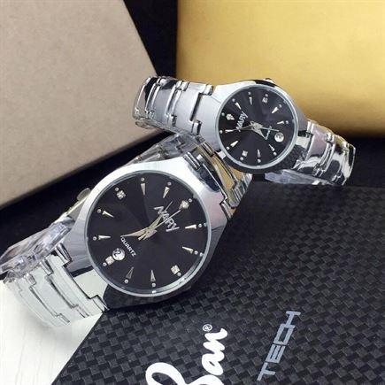 Đồng hồ đôi dây inox Nary 60KN81 thiết riêng cho các cặp đôi
