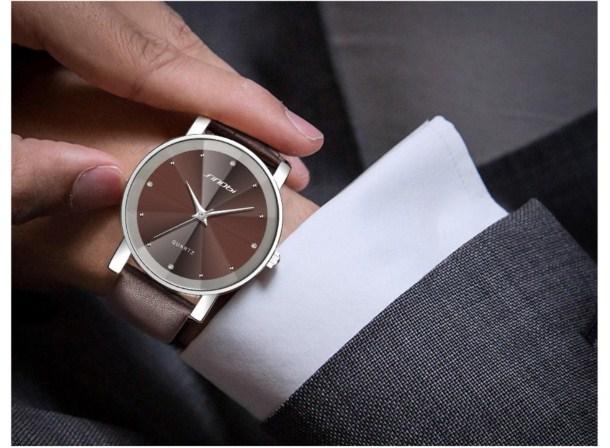 Đồng hồ nam Sinobi thời trang SI015 màu nâu