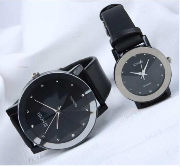Đồng hồ nam dây da mặt 3D Sinobi MDL-SB907 màu đen.