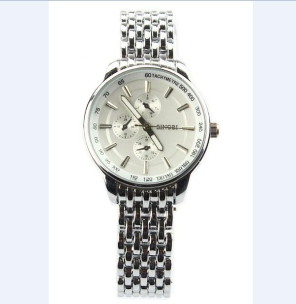Đồng hồ nữ dây thép không gỉ Sinobi 9268 màu trắng