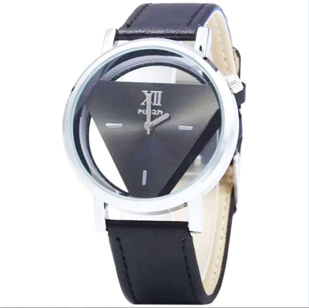 Đồng hồ nam dây da Wilon K0n02 màu đen