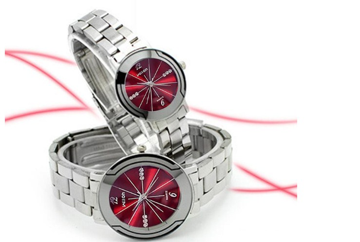 Cặp đôi đồng hồ Wilon G73 dây thép chạy 3 kim thời thượng.