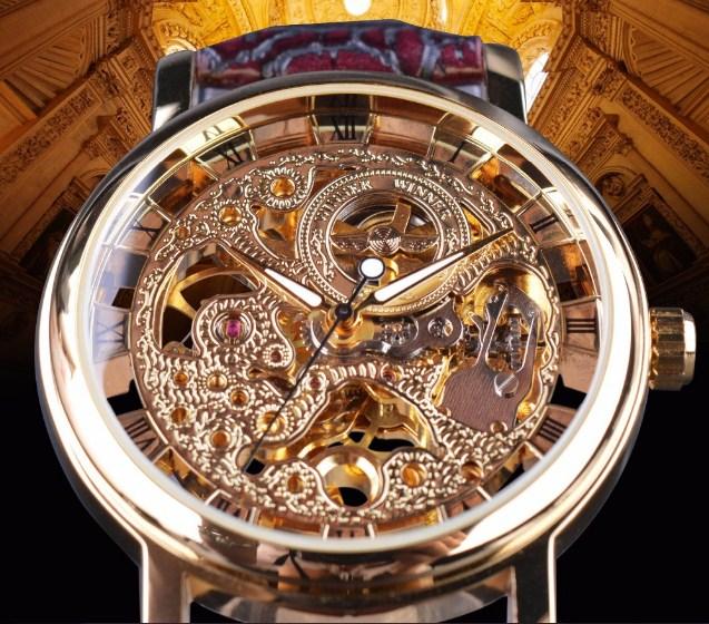 Đồng hồ Winner sở hữu màu sắc trang nhã, sang trọng, thu hút mọi ánh nhìn.