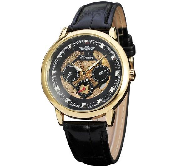 Đồng hồ Winner 172 dành chon am màu vàng thời thượng.