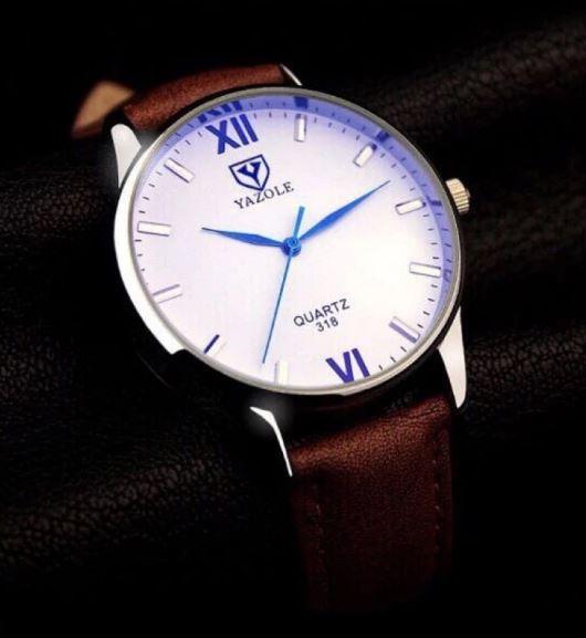 Đồng hồ nam dây da Yazole YR318- Nk541