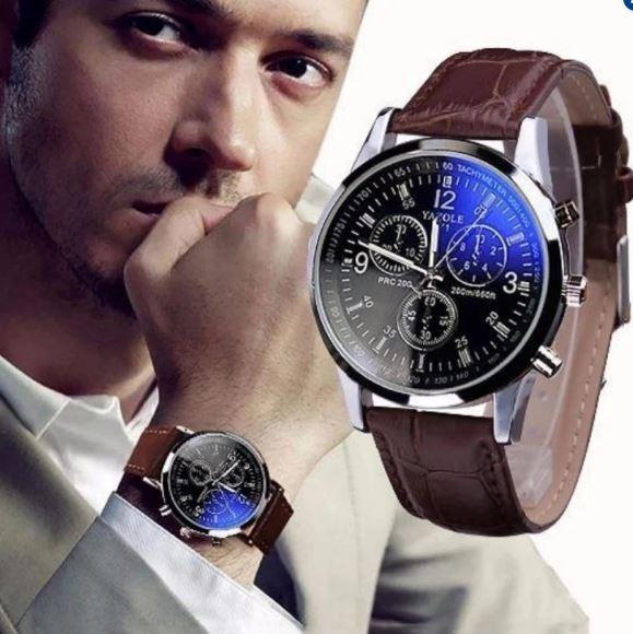 Đồng hồ nam dây da YZL 271