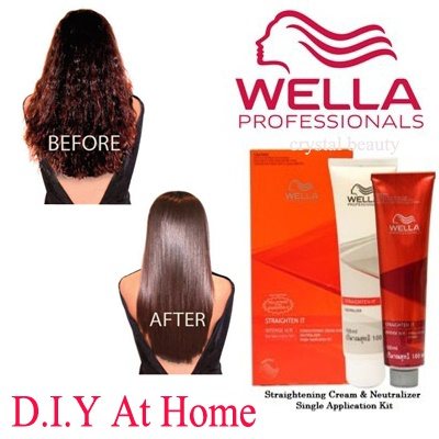 Duỗi tóc tại nhà bằng Thuốc duỗi tóc Wella