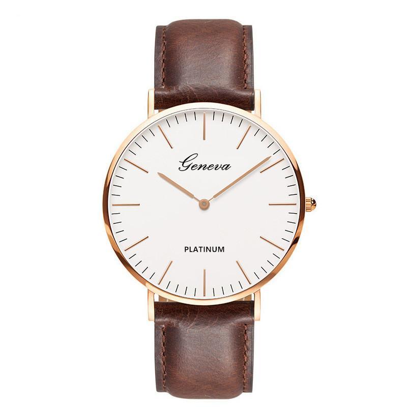 Đồng hồ nam dây da tổng hợp Geneva PKHRGE037-1