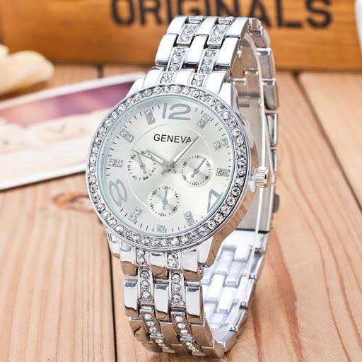 Đồng hồ nữ dây hợp kim Geneva PKHRGE004-3 (Bạc)