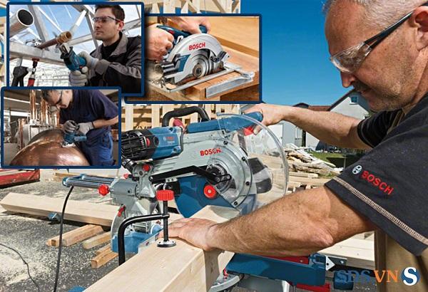 Máy cưa gỗ cầm tay Bosch thiết kế tiện lợi, hoạt động bền bỉ
