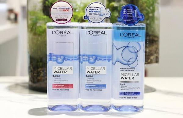 ưu điểm nước tẩy trang loreal