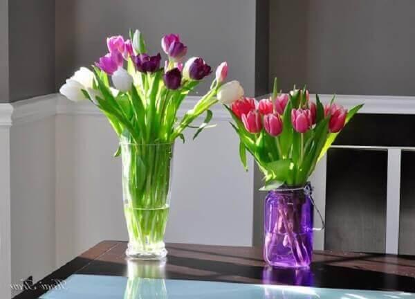 Hoa Tulip được đặt trong nhà ở hợp phong thủy